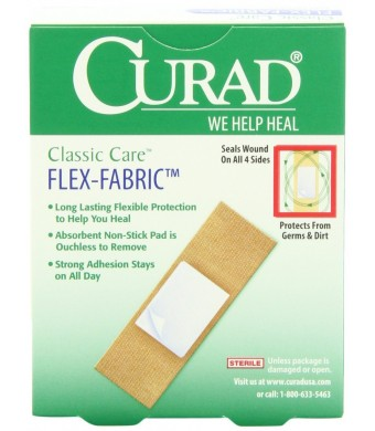 Curad Flex-Fabric Bandages, Assorted Sizes, 30 Count