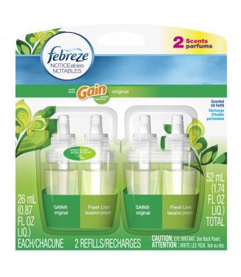 Febreze Noticeables Air Freshener Refill, Gain Original, 1.758 Ounce, 2 Count