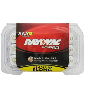 Rayovac Alkaline AAA Batteries, 18-Pack with Recloseable Lid (ALAAA-18F)