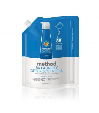 Method 8X Concentrated Laundry Detergent Refill, Fresh Air, 85 Loads