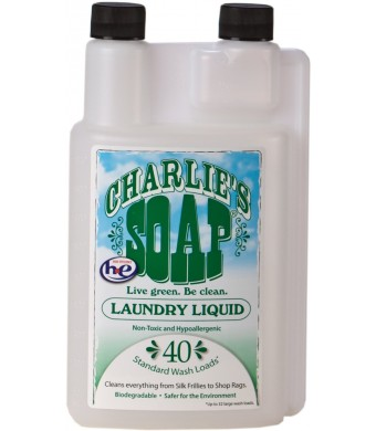 Charlie's Soap Laundry Liquid, 32-Fluid Ounce