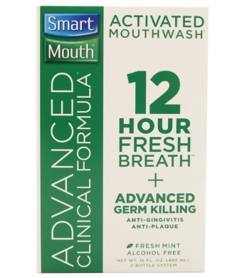SmartMouth ACF Mouthwash Mint -(Advance Clinical Formula) , 16 Ounce