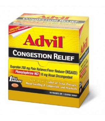 Advil Congestion Relief Tablets, 50 Count