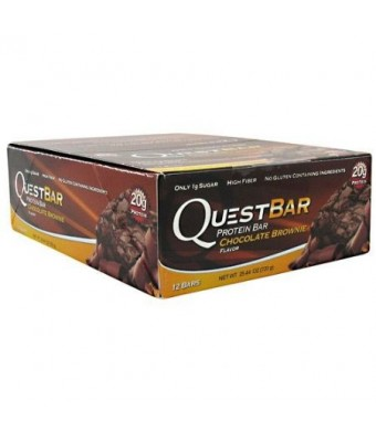Quest Nutrition Protein Bar, Chocolate Brownie, 2.1 Ounce, 12 Count