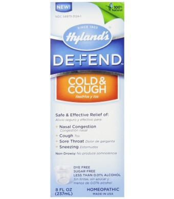 Hyland's Defend Cough and Cold, 8 Ounce