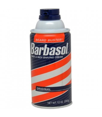 Barbasol Original Thick and Rich Cream Men Shaving Cream, 10 Ounce