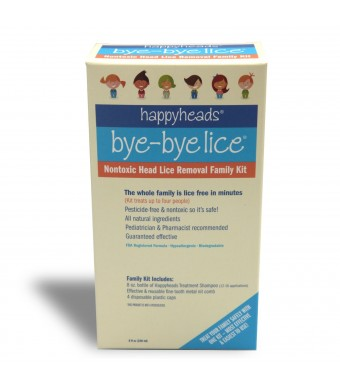 Happyheads Bye-Bye Lice Family Treatment Box Kit - 8 Fl Oz