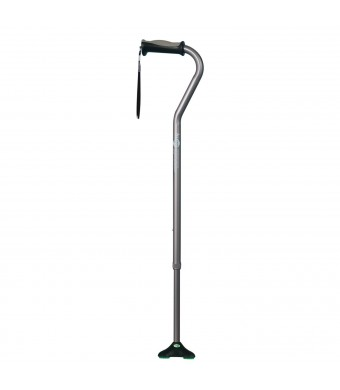 Hugo Mobility Quadpod Offset Cane with Ultra Stable Cane Tip, Smoke