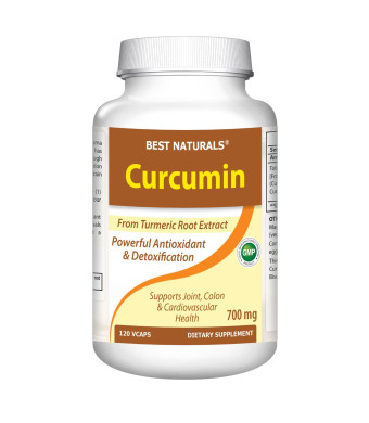 Turmeric Curcumin Extract 700 mg 120 Capsules by Best Naturals -- MAX Potency -- Super Strength Curcumin) With 95% Curcuminoids For Maximum Health and Vitality! Strongest and Most Effective -- Powerful Antioxidants, Full Money Back Guarantee!