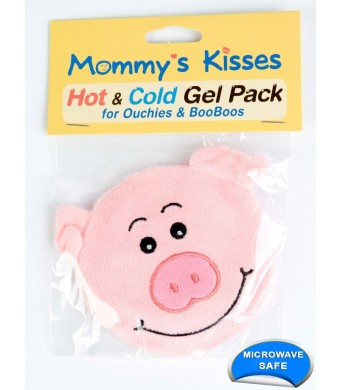 Spa Comforts Mommy's Kisses, Reusable Childrens Hot and Cold Pack Set of 4 Hot And Cold Gel Packs, Assorted Animal Designs