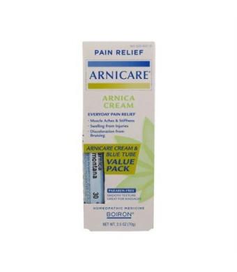 Arnica Cream Value Pack Cream and Arnica 30C Pellets Boiron 2.5 oz