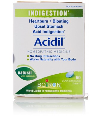 Boiron Acidil for Heartburn, 60 Tablets