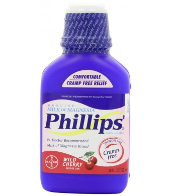 Phillips' Wild Cherry Milk of Magnesia Liquid, 26 Ounce Bottle