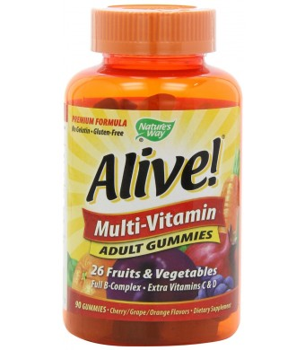 Nature's Way Alive Adult Multi-Vitamin Gummies, 90 Count