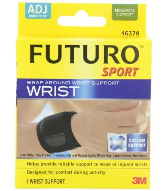 Futuro Sport Wrap Around Wrist Support, Black, Adjustable
