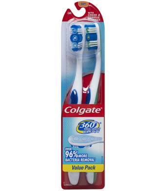 Colgate 360 Degree Adult Full Head, Soft, Twin Pack Toothbrush
