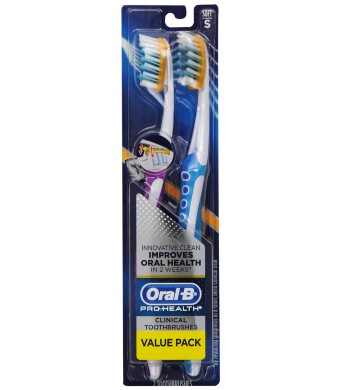 Oral-B Pro-Health Clinical Pro-Flex Soft Toothbrush, Colors May Vary, 2 Count