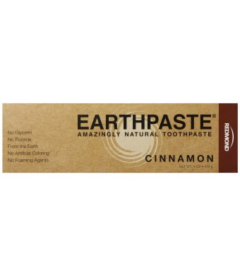 Redmond Earthpaste Toothpaste, Cinnamon, 4 Ounce