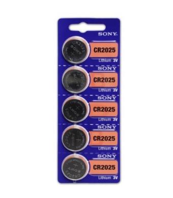 Sony Lithium 3V Batteries Size CR2025(1 Blister of 5)