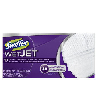 Swiffer Wetjet Refill, Original Pad, 17 Count