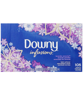 Downy Ultra Infusions Lavender Serenity Sheet Fabric Softener 105 Count