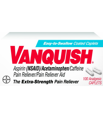 Vanquish Pain Reliever, 100 Caplets