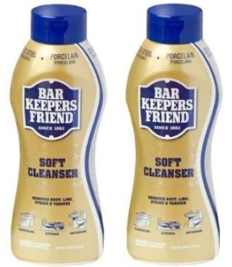 (2 Pack) Bar Keepers Friend Soft Cleanser for Stainless Steel / Porcelain / Ceramic / Tile / Copper - 13 Oz. Each