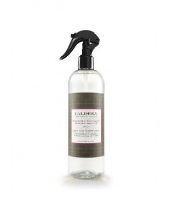 Caldrea Linen and Room Spray, Rosewater Driftwood, 16 Ounce