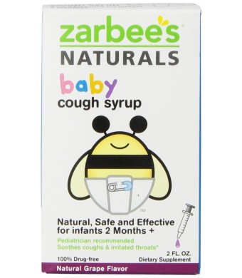 Zarbee's Naturals Baby Cough Syrup, Grape, 2 Fl Ounce