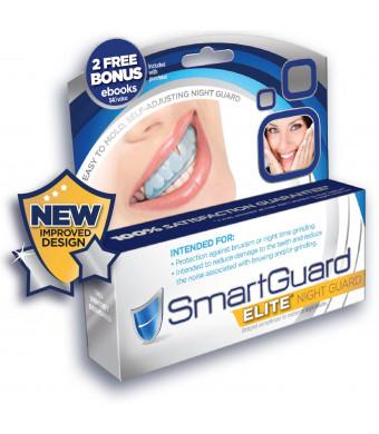 SmartGuard Elite - NEW IMPROVED Night Guard For Teeth Grinding and Bruxism - Mouthguard for Teeth Dental Bite Splint Appliance. TMJ Dentist Designed