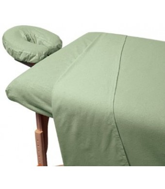 For Pro Premium Flannel Sheet 3 Piece Set, Sage