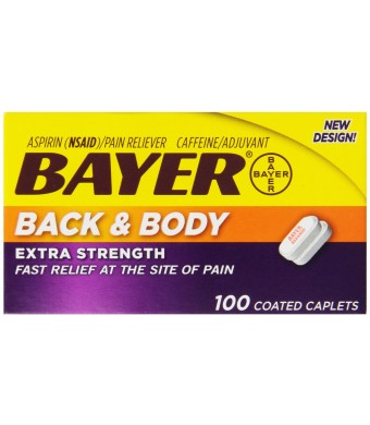 Bayer Extra Strength Caplets, Back and Body 500 mg, 100 count