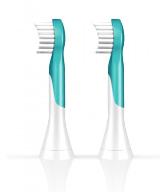 Philips Sonicare HX6032/94 2 Piece Kids Brush Head, Compact (Colors May Vary)