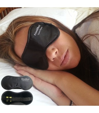 Sleep Mask with Ear Plugs - For Sleeping Anywhere, Travel, Long Flights or Short Naps, Blocks Light Fully, Super Lightweight, Soft and Comfortable, Wide Strap with Velcro and Earplugs Holder, Extreme Quality and Comfort. Money Back Guarantee.