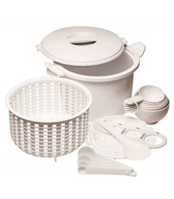Prepworks from Progressive International GMRC-500 Microwaveable 12-Cup (Cooked) Rice/Pasta Cooker Set