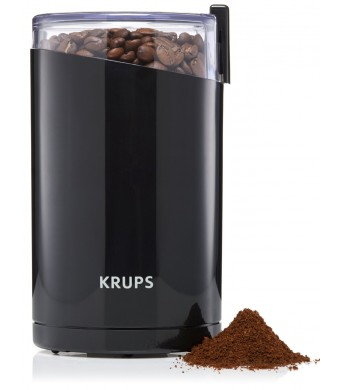 KRUPS F203 Electric Spice and Coffee Grinder with Stainless Steel Blades, Black ***110V electricity