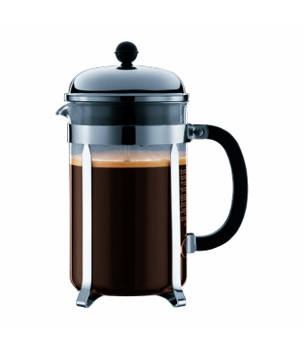Bodum Chambord 12 cup French Press Coffee Maker, 51 oz, Chrome
