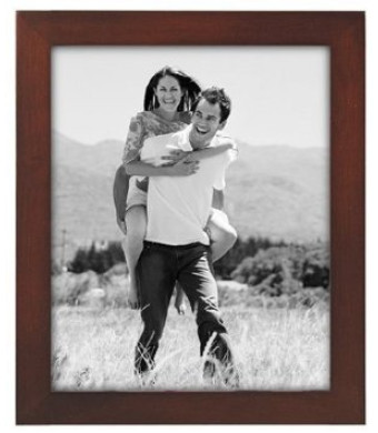 Malden Linear Walnut Picture Frame,8 inches by 10 inches