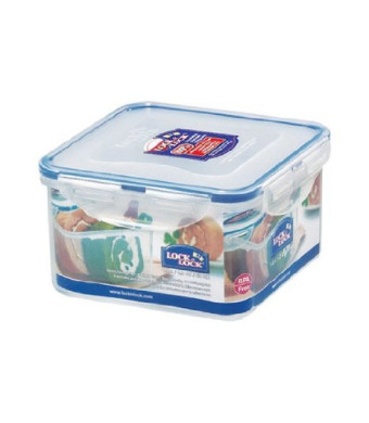LockandLock 40-Fluid Ounce Square Food Container, Short, 5-Cup