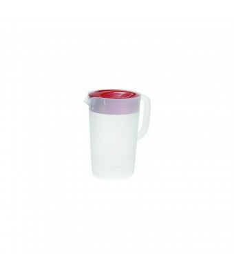 Rubbermaid #3063-RD-WHT Gallon Covered Pitcher 1 Gallon