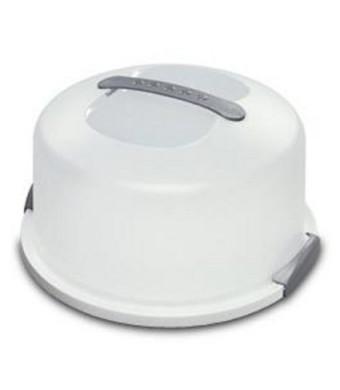 Sterilite 2008004 Cake Server, White (CLEAR, 1)