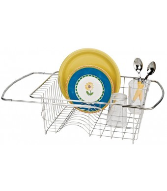 Better Houseware Adjustable Over Sink Dish Drainer in Stainless Steel (SILVER, 1)