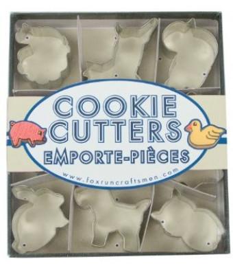 Fox Run Animal Mini Cookie Cutter Set
