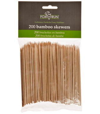 Fox Run Bamboo Skewers, 4-Inch (200 Count)