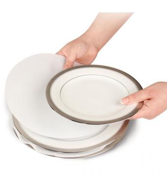 """Soft White Felt Plate Dividers 12-10"""" , 24-6"""" , 12-4.5""""  (Set of 48)"""