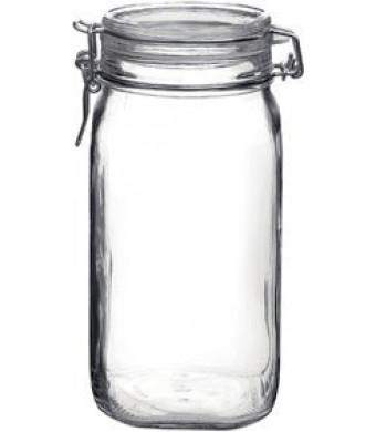 Bormioli Rocco Fido Round Clear Jar, 50-3/4-Ounce