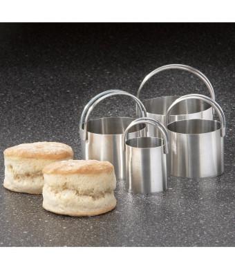 RSVP Endurance 4 Piece Stainless Steel Biscuit Cutter Set