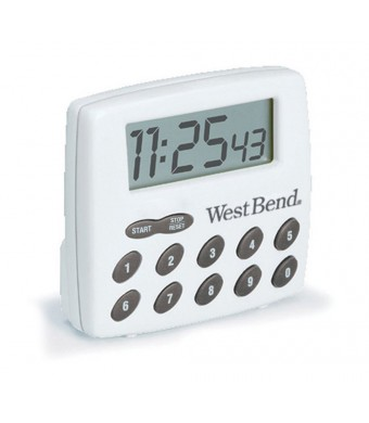 West Bend Digital Timer, White