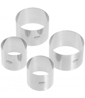 Kuchenprofi Prep/Plating/ Forming Rings, Set of 4