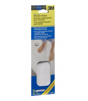 3M 7643 0.75-Inch by 9-Inch NA Safety-Walk Shower Strips, White